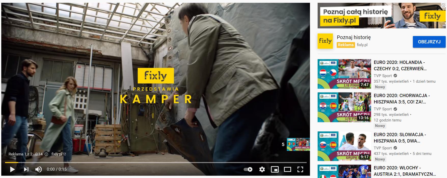 Przykłady reklam Google Ads na Youtube