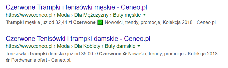Meta description z emotikonami w tekście