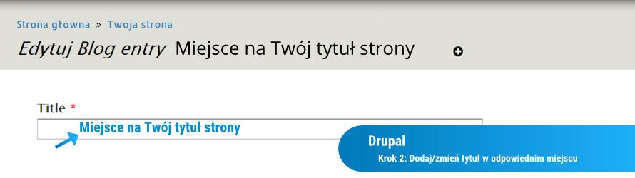 Jak zmienić tytuł strony w Drupalu: krok 2