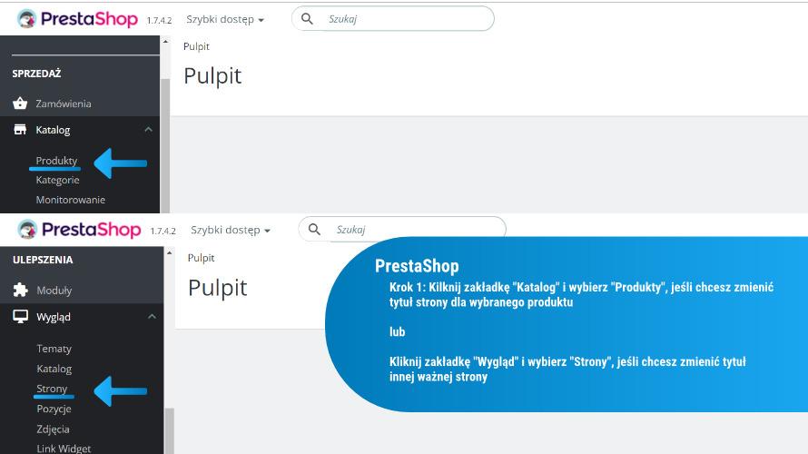 Jak zmienić tytuł strony w PrestaShop: krok 1