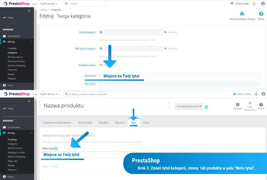 Jak zmienić tytuł strony w PrestaShop: krok 3