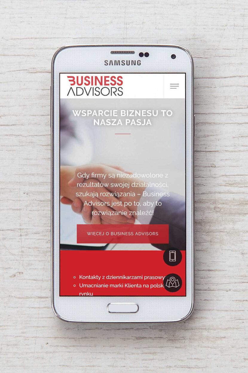 Business Advisors - wygląd na urządzeniach mobilnych