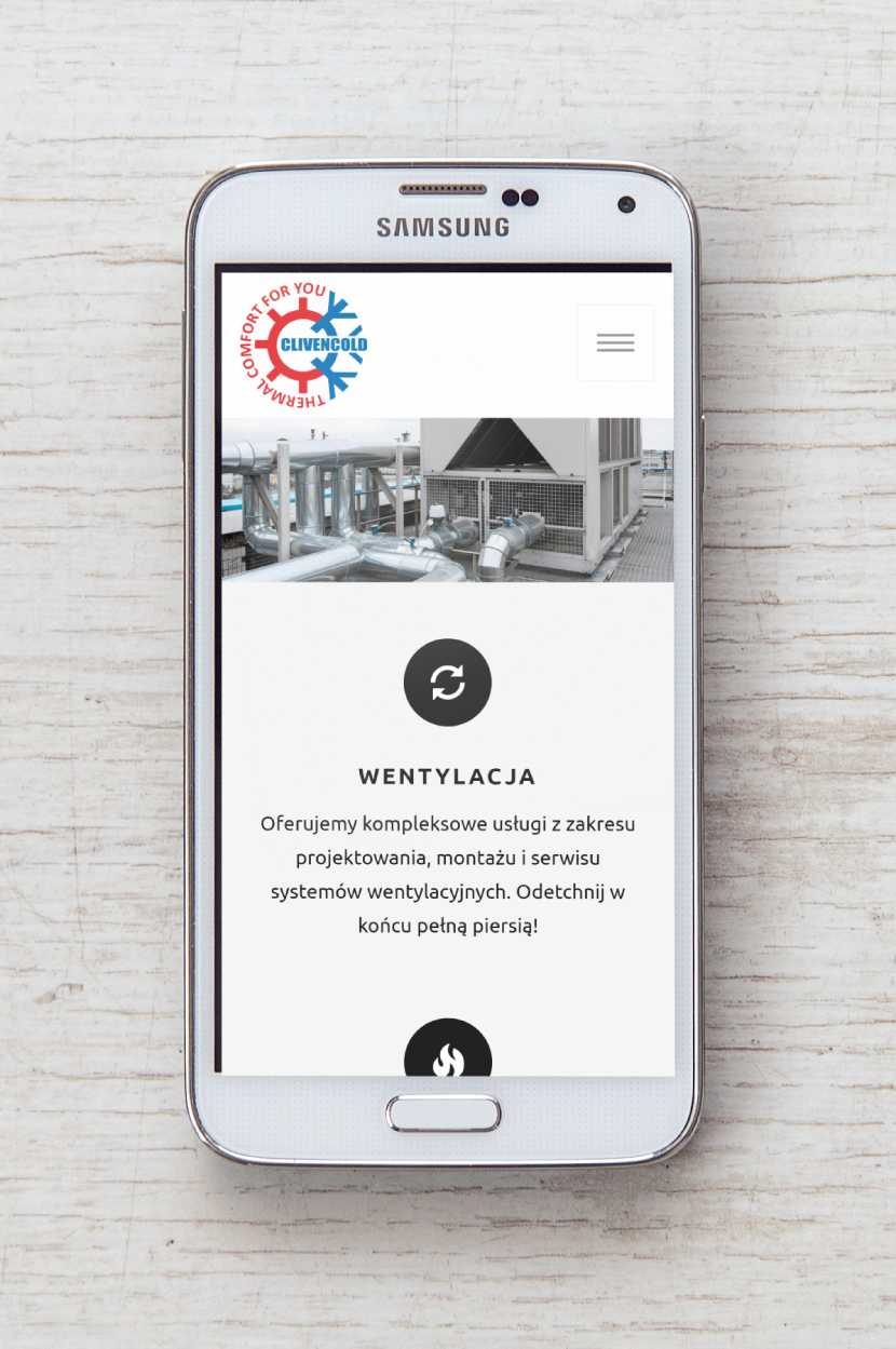 Clivencold - wygląd na urządzeniach mobilnych
