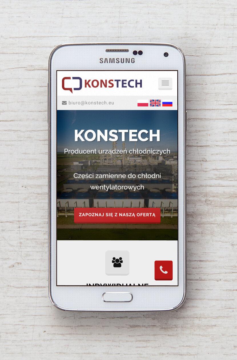 Konstech - Wygląd na urządzeniach mobilnych