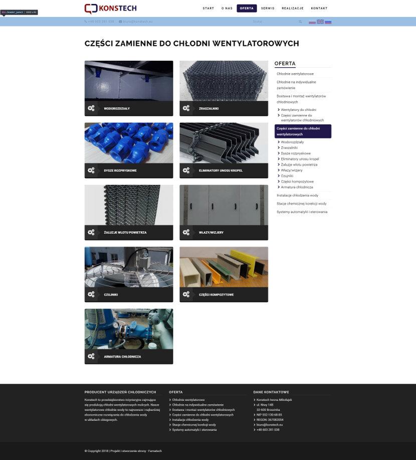 Konstech - Strona ze szczegółową ofertą