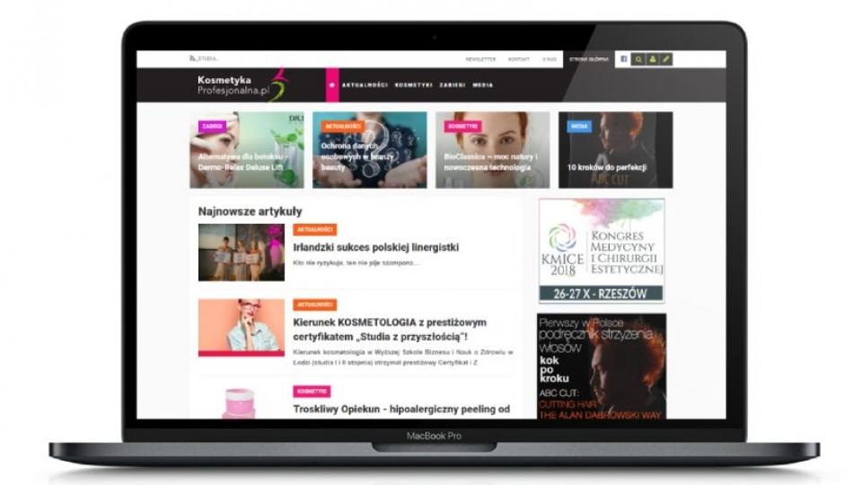 Kosmetyka Profesjonalna - wygląd strony na urządzeniach stacjonarnych