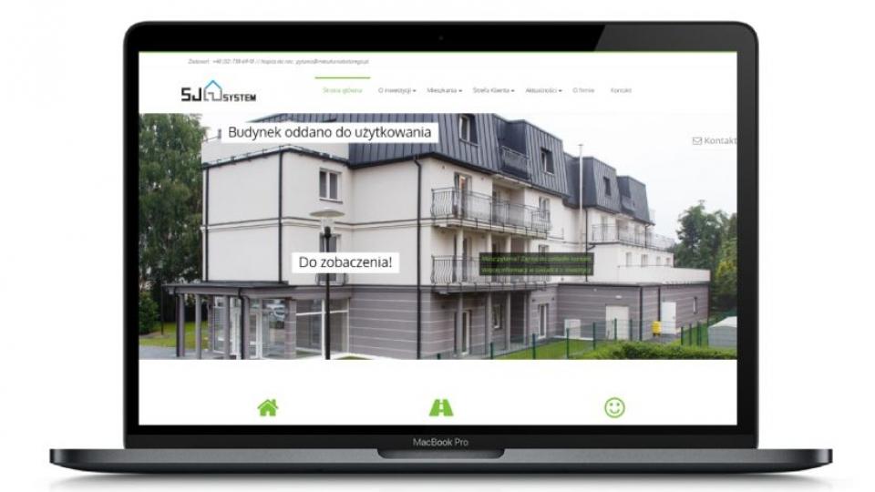 Mieszkania Batorego - wygląd strony na urządzeniach stacjonarnych