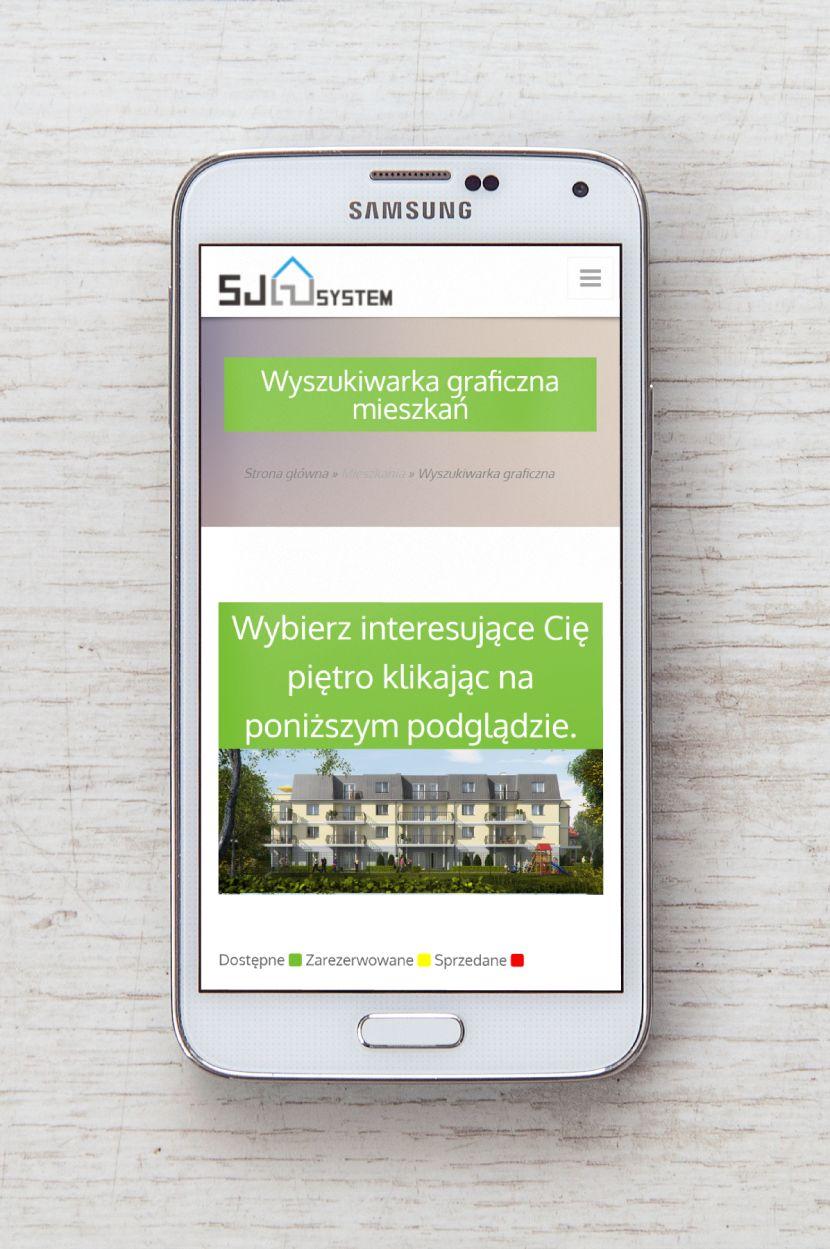 Mieszkania Batorego - wygląd strony na urządzeniach mobilnych
