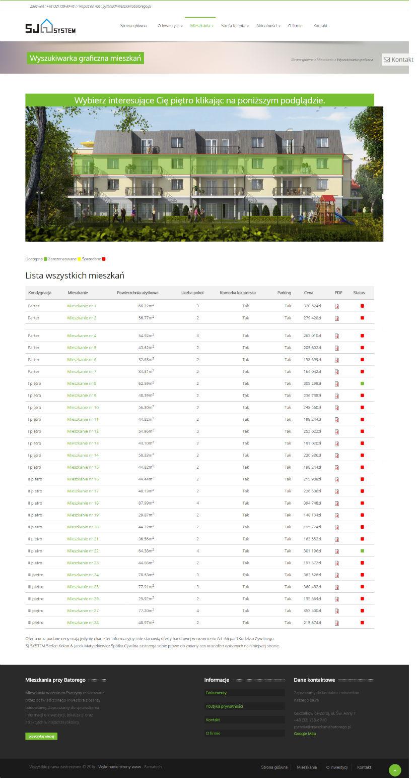 Mieszkania Batorego - zaawansowana wyszukiwarka graficzna