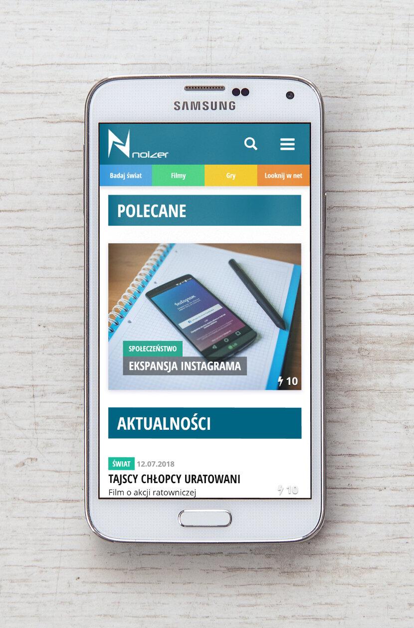 Noizer - wygląd na urządzeniach mobilnych