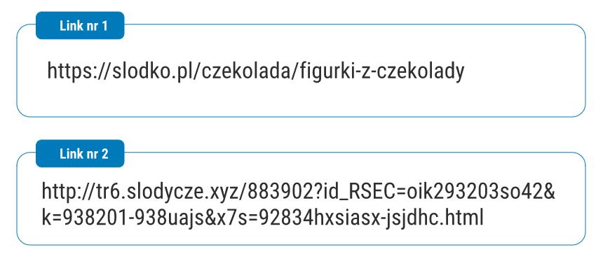 ROzbudowany adres strony z parametrem i odnośnikiem