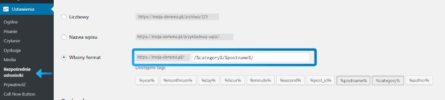 Ustawienie przyjaznych adresów w Wordpress