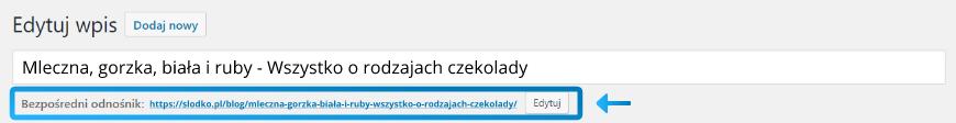 Zmiana adresu wpisu w Wordpress